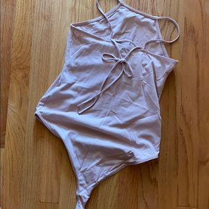 Pink with bow Bodysuit